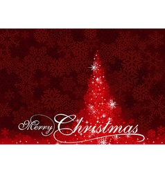 Red Abstract Christmas Tree vector image vector image