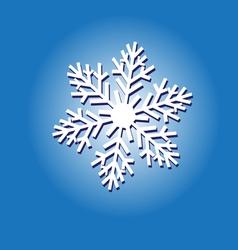 Sign white snowflake vector