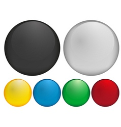 blank buttons vector image