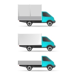 Cargo truck pickup and tent vector image