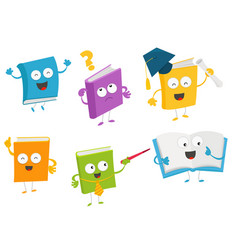 collection of book characters vector image