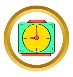 Colorful alarm clock icon cartoon style vector