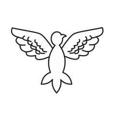 dove peace flying wings symbol design vector image