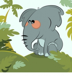 elephant in the jungle vector image