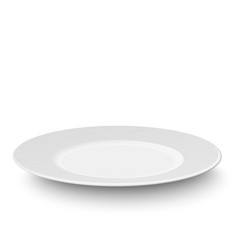 Empty plate isolated on white background vector image vector image