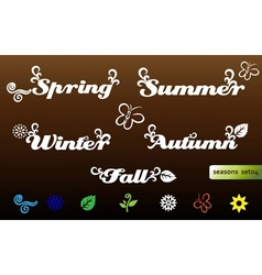 seasons names and elements vector image vector image