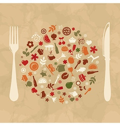 Vintage Restaurant Design vector image vector image