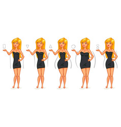 5 types of female figures vector image
