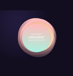 abstract circle text box with soft modern vector image