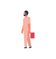 African man hold clipboard medical doctor profile vector