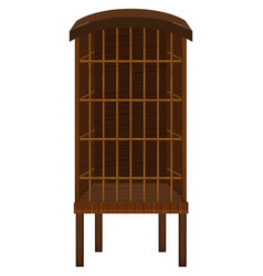 Animal cage made wood vector
