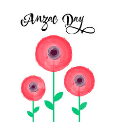 Anzac day card 25th of april vector