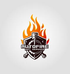 auto fire - hot service logo template vector image