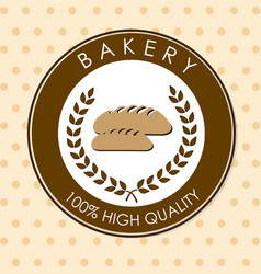Bakery design over beige background vector