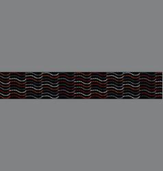 bohemian leaf stalk stripe seamless border vector image