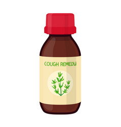 Bottle herbal cough remedy herbal medicine vector