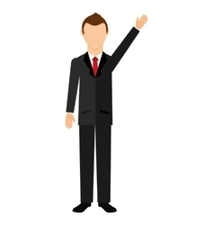 businessman isolated icon design vector image