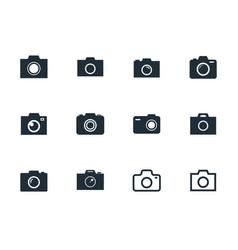 camera icons set photo sign vector image
