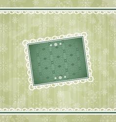 Christmas vintage frame ornamental design elements vector image