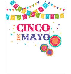 Cinco de mayo - may 5 federal holiday in mexico vector