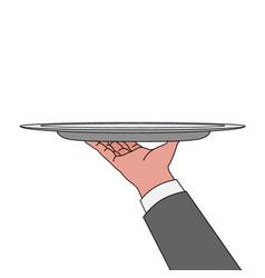 classic elegant waitress vector image