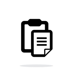 clipboard with text file simple icon on white vector image