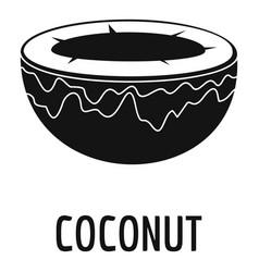 Coconut icon simple style vector
