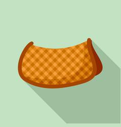 cotton warm saddle icon flat style vector image