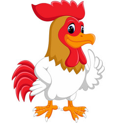 cute rooster cartoon vector image