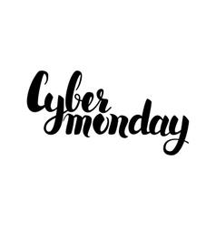 Cyber Monday Handwritten Lettering vector image