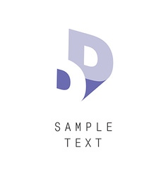 Double letter D icon vector image