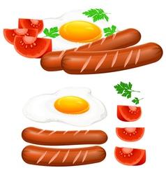 Egg sausage tomato vector