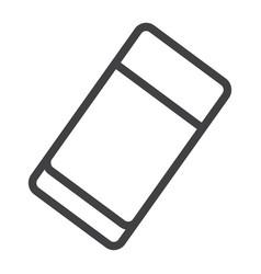 Eraser line icon education and school rubber vector