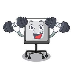 fitness prestation board chart blank on carttoon vector image