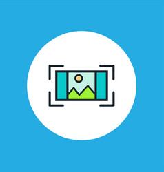 focus icon sign symbol vector image