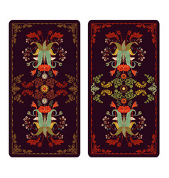for tarot and playing cards vector image