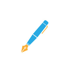 Fountain pen flat icon education and school vector