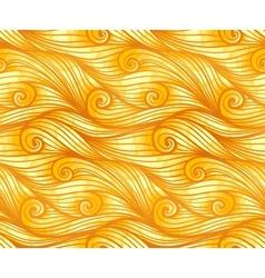 Golden curly woolen seamless pattern vector