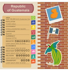 Guatemala infographics statistical data sights vector image