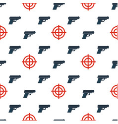 Gun targets seamless pattern2 vector