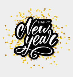 happy 2020 new year holiday with lettering vector image