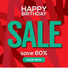 Happy Birthday Sale Banner vector image