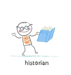Historian book readers vector