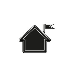 home icon real estate house residential symbol vector image