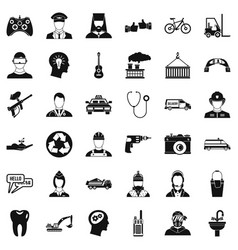 Human resource icons set simple style vector