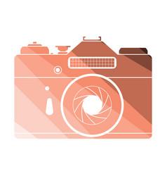 icon of retro film photo camera vector image