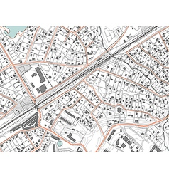 Imaginary plan a residential area of private vector