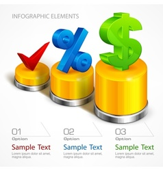 Infographic elements on chart vector image vector image
