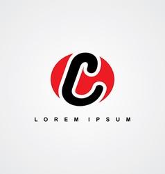 initial letter linked uppercase logo vector image