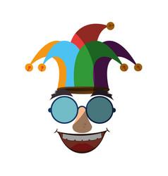 Jester clown cartoon vector